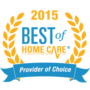 Eldercare Services Best Home Care Provider Award 2015 Provider of Choice Award